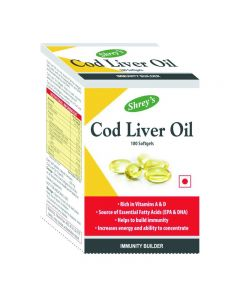 Shrey's Cod Liver Oil for Immunity & Heart Health 100 Softgels