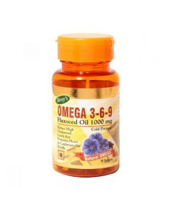 Shrey's Omega 3-6-9 Flaxseed Oil for Cardiovascular Health 30 Softgels