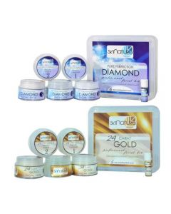 Skinatura Diamond + 24 Carot Gold Facial Kit (Combo of 2 - 310 gm each) 310 g (Set of 2)