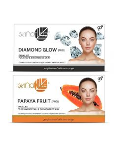 Skinatura Diamond Glow + Papaya Fruit Facial Kit 230 g (Set of 2)