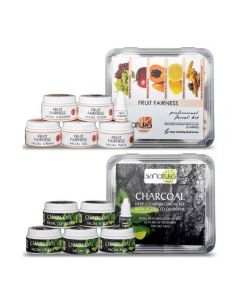 Skinatura Fruit Fairness + Charcoal Facial Kit (Combo of 2 - 310 gm each) 310 g (Set of 2)