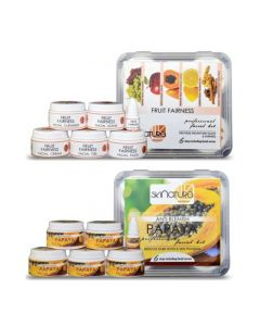 Skinatura Fruit Fairness + Papaya Facial Kit (Combo of 2 - 310 gm) 310 g (Set of 2)