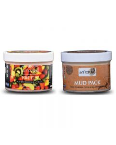 Skinatura Fruits Skin Energizing Face Pack + Mud Pack (Combo of 2 - 400 gm each) (400 g)