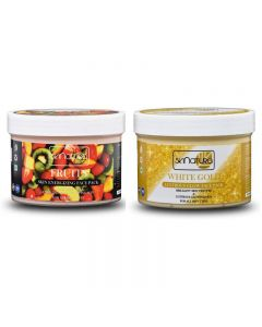 Skinatura Fruits Skin Energizing + White Gold Lustrous Glow Face Pack (Combo of 2 - 400 gm each) (400 g)
