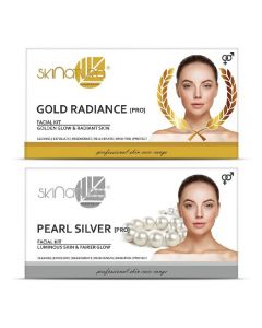 Skinatura Gold Radiance + Pearl Silver Facial Kit 230 g (Set of 2)