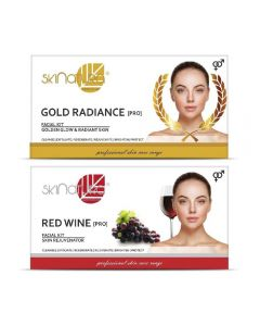 Skinatura Gold Radiance + Red Wine Facial Kit 230 g (Set of 2)