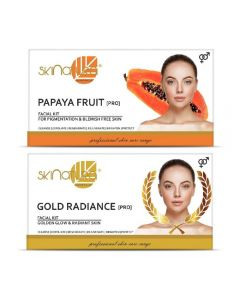 Skinatura Papaya Fruit + Gold Radiance Facial Kit 230 g (Set of 2)