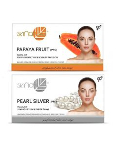 Skinatura Papaya Fruit + Pearl Silver Facial Kit 230 g (Set of 2)