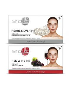 Skinatura Pearl Silver + Red Wine Facial Kit 230 g (Set of 2)