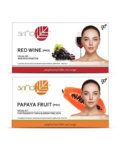 Skinatura Red Wine + Papaya Fruit Facial Kit 230 g (Set of 2)