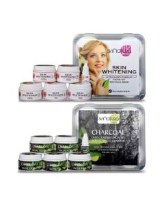 Skinatura Skin Whitening + Charcoal Facial Kit (Combo of 2 -310 gm) 310 g (Set of 2)