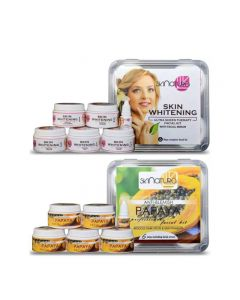 Skinatura Skin Whitening + Papaya Facial Kit ( Combo of 2 - 310 gm each) 310 g (Set of 2)
