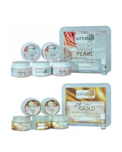 Skinatura White & Shine Pearl + 24 Carot Gold Facial Kit ( Combo of 2 - 310 gm each) 310 g (Set of 2)