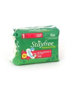 STAYFREE Sanitary Advanced Xl Soft Ultra-Thin 14 Pads