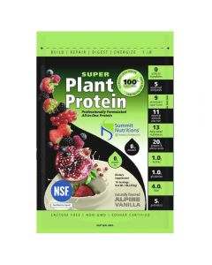Summit Nutritions Super Plant Protein 1lb (Alpine Vanilla)