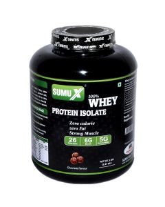 Sumu X 100% Whey Protein Isolate 5 LBS Choclate Flavour - 2.27kg