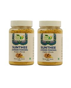 Indian Herbal Valley Sunthee (Ginger) Powder - 100 gms (Pack of 2) Natural dried sunth powder - Stomach problems