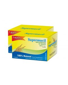 Supermucil Monthly Pack 31 Sachets of Psyllium Husk Powder 102 gm (Pack Of 2)