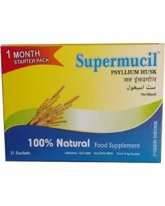Supermucil Monthly Pack 31 Sachets of Psyllium Husk Powder 102 gm (Pack Of 3)
