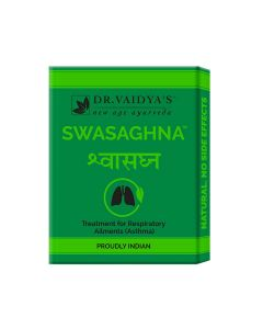 Dr. Vaidya's Swasaghna Pills - Ayurvedic Treatment for Asthma & Respiratory Problems - Pack of 3