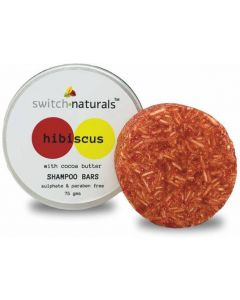 Switch Naturals Shampoo Bar - Hibiscus With Cocoa Butter 75 gms