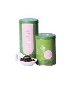 The Tea Shelf Hibiscus Cinnamon Green Tea 100 Grams (40 Cups), loose leaf tea blend for tangy iced tea