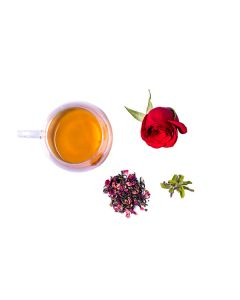 The Tea Shelf Rose Tulsi Green Tea 100 Grams (40 Cups), Herbal Tea Blend  with Natural Ingredients