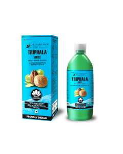 Dr. Vaidya's Triphala Juice - Amla Harad Baheda - Supports Digestion , Immunity & Hair (1 LTR) - Vegetarian , Zero Added Sugar
