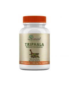 La Nature's Triphala 500mg|Detoxify your  body|Improves Gastric Issues & Consipation (Digestive Wellness)| 60 Veg Capsules
