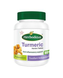 Herbodaya Turmeric Tablets 250mg (Anti-inflammatory support) - 60 Tablets