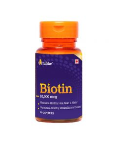 Unifibe Biotin 10,000 mcg Maximum Strength Supplement - 60 Softgel Caps (Vitamin B7 for Hair, Skin & Nails)