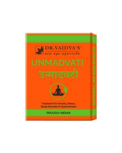Dr. Vaidya's Unmadvati Pills - Ayurvedic Treatment for Sleep, Anxiety, Stress & Hypertension - Pack of 3