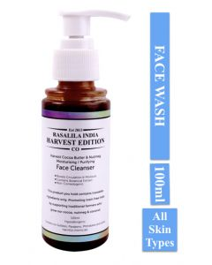 Rasalila India Harvest Cocoa Butter & Nutmeg Chemical Free All Skin Types Face Wash 100 ml Cedar wood