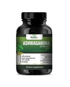 VEDA MAXX Ashwagandha Extract (Withania Somnifera) With Withanolides Natural 100% Whole-Food Vegetarian Tablet For Improves Energy, Strength And Stamina Levels and Anti Stress Know As Indian Ginseng (500Mg Pack of 01 Each Contain - 60 Capsules)