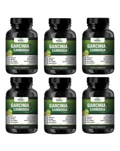 VEDA MAXXGarcinia Cambogia Extract 100% Veg Weight Loss/Fat Burner Supplement (500Mg Pack of 06 Each Contain - 60 Capsules)