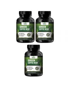 VEDA MAXX Green Coffee Beans Extract 100% Pure & Natural Weight Management & Appetite Suppressant Supplement (500Mg Pack of 03 Each Contain - 60 Capsules)