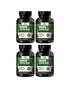 VEDA MAXX Green Coffee Beans Extract 100% Pure & Natural Weight Management & Appetite Suppressant Supplement (500Mg Pack of 04 Each Contain - 60 Capsules)