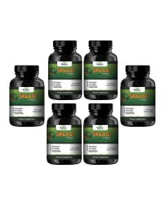 VEDA MAXX Shilajit Extract for Strength, Stamina, Vigour with 6.5% fulvic acid (Pack of 06 Each Contain 500Mg - 60 Capsules)