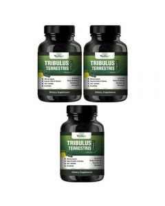 VEDA MAXX Tribulus Terrestris Extract-500Mg 60 Capsules, 40% Saponins for a Bodybuilding or Training supplement (Pack of 03 Each Contain 500Mg - 60 Capsules)