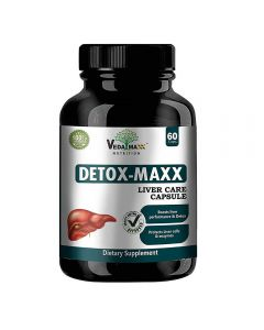 VEDA MAXX Liver Detoxifier & Regenerator for Complete Liver Support, Natural 100% Vegetarian Capsules (Pack of 01 Contain - 60 Capsules)