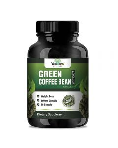 VEDA MAXX Green Coffee Beans Extract 100% Pure & Natural Weight Management & Appetite Suppressant Supplement (500Mg Pack of 01 Each Contain - 60 Capsules)