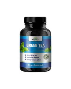 VEDA MAXX 100% Natural & Organic Green Tea Extract Capsules Dietary Supplement for Fast weight loss and Stronger Immune System (500Mg Pack of 1 - Each Contain 60 Capsules)