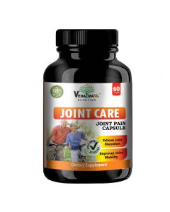VEDA MAXX Joint Care Capsules Supplement for Relieves Joint Discomfort & Improve Joint Mobility, 100% Natural & Safe Vegetarian Tablet (Pack of 01)