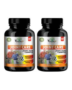 VEDA MAXX Joint Care Capsules Supplement for Relieves Joint Discomfort & Improve Joint Mobility, 100% Natural & Safe Vegetarian Tablet (Pack of 02)