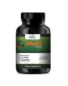 VEDA MAXX Shilajit Extract for Strength, Stamina, Vigour with 6.5% fulvic acid (Pack of 01 Each Contain 500Mg - 60 Capsules)