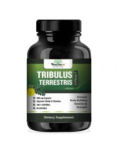 VEDA MAXX Tribulus Terrestris Extract-500Mg 60 Capsules, 40% Saponins for a Bodybuilding or Training supplement (Pack of 01 Each Contain 500Mg - 60 Capsules)