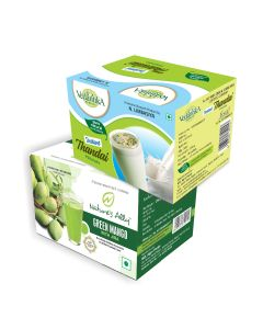 Vedantika Herbals Summer special Drinks Combo Pack- Green Mango+ Instant Thandai
