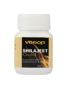 Veeon Shilajit Gold Enriched With Gold Kesar & Musli Capsules - 30 Caps