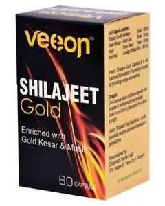Veeon Shilajit Gold Enriched With Gold Kesar & Musli Capsules - 60 Caps