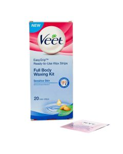 Veet Full Body Waxing Kit Sensitive Skin 20 strips